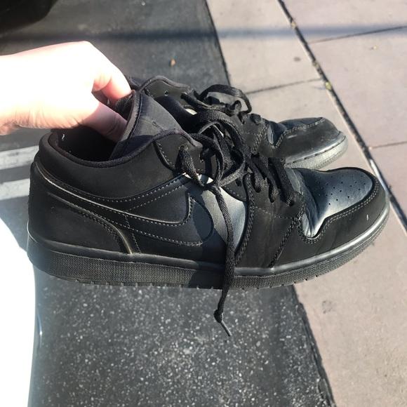 acheter populaire b647a 51377 Jordan 1 Low Black noir